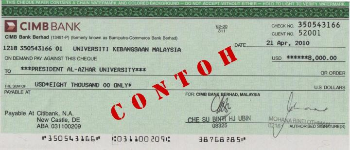 CIMB bank draft sample