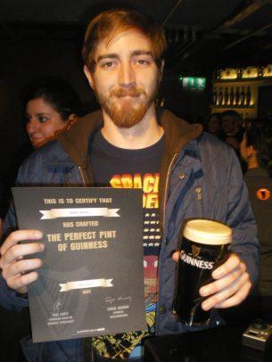 stiva teo ,愛爾蘭旅遊, 健力士酒廠 Guinness certificate